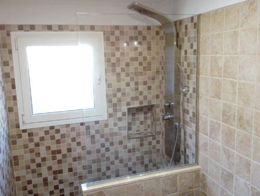 Reforma de cuarto de baño con ducha de obra en Tenerife