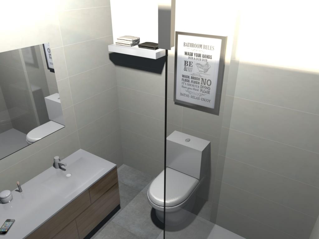 Diseño de baño en 3D